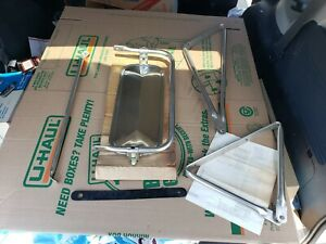 Nos Oem Vintage 60s 70s Ford Pick Up Truck Side Towing Mirror 16 1 4 X 7