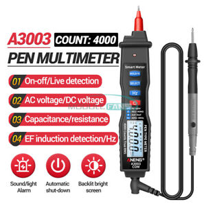 A3003 Digital Multimeter Pen Type 4000 Count With Non Ac dc Contact Tester