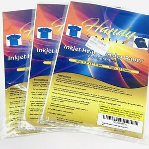 3x Inkjet Heat Transfer Paper For Light Fabric 8 3 X 11 7 a4 10 Sheets