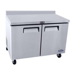 Atosa Mgf8410gr 60 Two Section Reach In Worktop Refrigerator