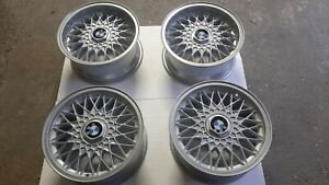 Bbs Rz 320 And 378 15 4x100 Wheels Staggered Look Bmw E30 E21 No Bbs Rs Rm