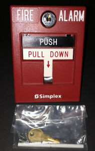 Simplex 2099 9756 Manual Double Action Pull Station With Key And Rod New