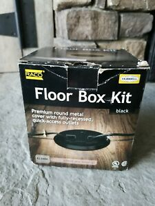 Hubbell 6239bk Floor Kit With Recessed Duplex 15a Tr Device Adjustable Black