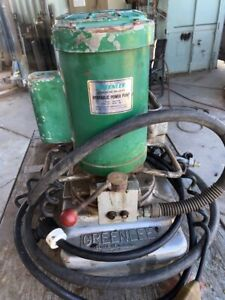 Greenlee Portable Hydraulic Power Pack Portapower Works Tested
