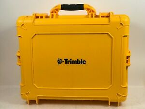 Original Trimble Pelican Yellow Rugged Case For Site Positioning System W Cable