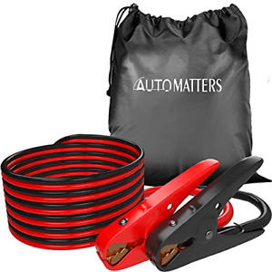 Jumper Cables 2 Gauge 20 Feet Automatters Heavy Duty Booster Cables With Carry
