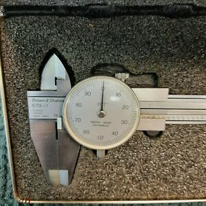 Brown Sharpe 6 Dial Caliper 579 1used In Excellent Condition