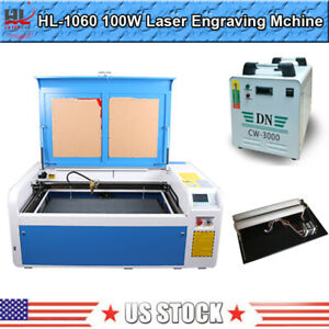 Hl Dsp 100w 39x24in Co2 Laser Engraver Engraving Machine With 3000 Water Chiller