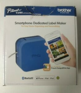 Brother P touch Cube Smartphone Label Maker Bluetooth Wireless open Box