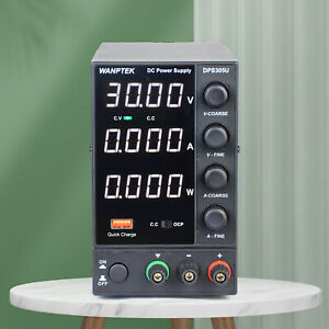 5a 30v Dc Bench Power Supply Adjustable Switching Regulated Four Digital Display