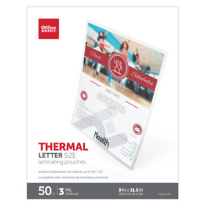 Office Depot Brand Laminating Pouches Letter Size 3 Mil 9 X 11 5 50 pk