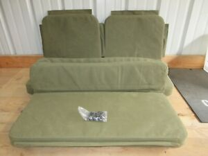 Full Set Of Replacement Canvas Seat Covers With Foam Fits Jeep Willys Mb Gpw