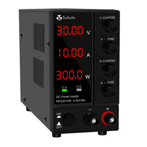 Dc Power Supply Variable Adjustable For Electrolysis 30v 6a 10a Led Display Us