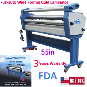 Qomolangma 55in Full auto Wide Format Cold Laminator With Heat Assisted Us Ship