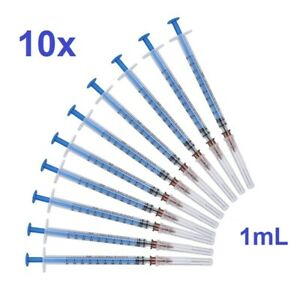 10x Syringe 1ml Injection Injector Tube Disposable Small Liquid Sterile Filler