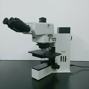 Olympus Microscope Bx60m Metallurgical With Bf df And Tilting Head