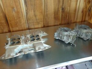Factory 1958 Plymouth Fury 350 V 8 Dual Quad 2x4 Intake With Carter Afb Carbs