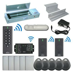 Visionis Fpc 6382 1200lbs Inswing Door Maglock Wireless Keypad And Exit Button