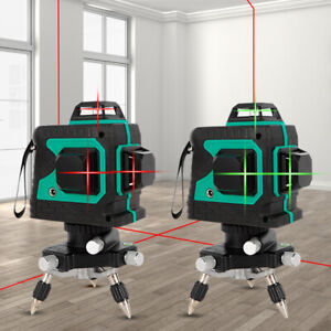 3d 12 Lines Red Laser Level 360 Horizontal vertical Self Leveling Measure Tool