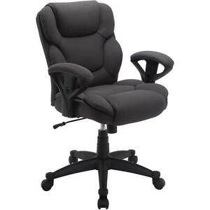 Office Chair Big Tall Fabric Manager Home Seat Supports Up To 300 Lbs Gray