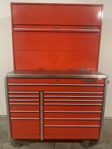 Snap On Krl1001b Tool Box Stainless Top Riser And Upper Cabinet Snap On