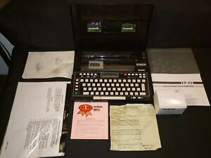Vintage Portable Electronic Typewriter Word Processor Brother Ep 22 Excellent