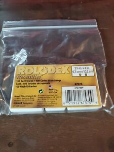Rolodex Rotary File Card Refills Unruled 2 1 4 Inches Inchesx 4 Inches 100