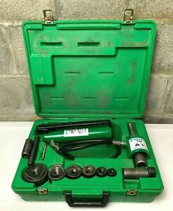 Greenlee 7306 Hydraulic Knockout Punch Driver Set 1 2 2 Great Shape