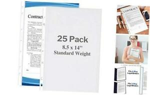 Legal Size Sheet Protector 8 5x14 Legal Paper 25 Pack Standard Weight
