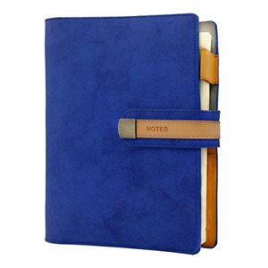 Refillable Business A5 Notebook Loose Leaf Pu Leather Cover Journal Notepad Pen