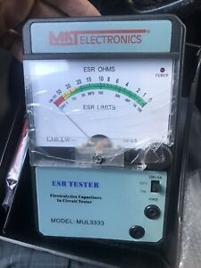 Mat Electronics Model Mul3333 Esr Tester Electrolytic Capacitor In circuit New