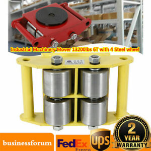 Heavy Duty Machine Dolly Skate Machinery Roller Mover Cargo Trolley 13 200lbs 6t
