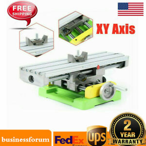 Xy axis Compound Milling Machine Work Table Cross Slide Bench Drill Vise Us Sale