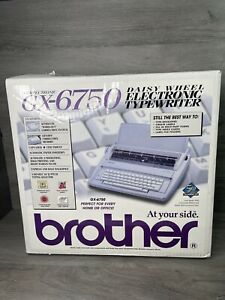 New brother Gx 6750 Daisy Wheel Electronic Typewriter Brand New Descriptions