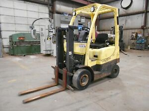 2010 Hyster H30ft 3 000 3000 Pneumatic Tired Forklift W Trucker Mast