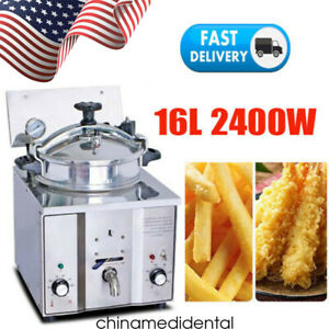 Professional 16l Commercial Electric Countertop Chicken Pressure Fryer Machine