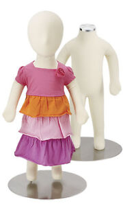 Flexible 3 Month Old Baby Mannequin Boy Girl Form Retail Bendable 24 Base