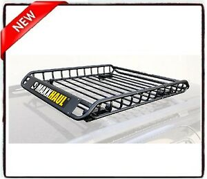 Heavy Duty Roof Rack Cargo Carrier For Trip Luggage Basket Rooftop Vacation Jeep