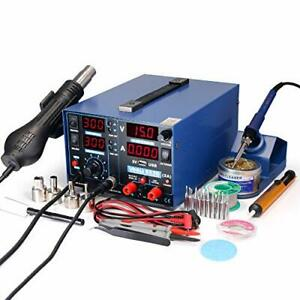 853d 2a Usb Smd Hot Air Rework Soldering Iron Station Dc Power Supply 0 15v