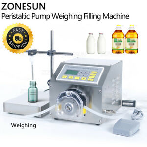 Semi Automatic Beverage Perfume Lotion Weighing Filling Machine Peristaltic Pump