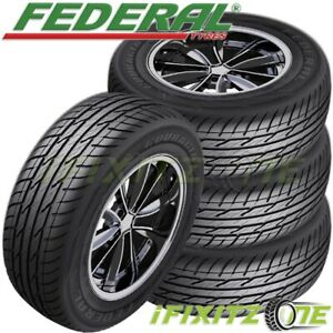 4 New Federal Couragia Xuv P255 60r17 110v All Season Suv Touring Highway Tire