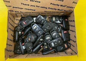 Lot Of 25 Kia Oem Keyless Remote Fob No Label 4 Button 3 Button Oem Used