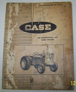 Case 530 Construction King Wheel Tractor Parts Catalog A910 With Iconic Eagle