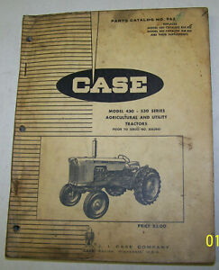 Case 430 530 Series Tractor Parts Catalog With Iconic Eagle Trademark No 963