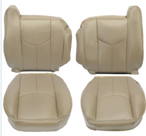 Front Lh Rh Seat Cover For 2003 2006 Chevy Silverado Gmc Sierra Leather Tan