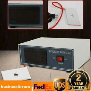 Microscope Stage Digital Thermostat Heating Plate Slide Warmer Temp Control Usa
