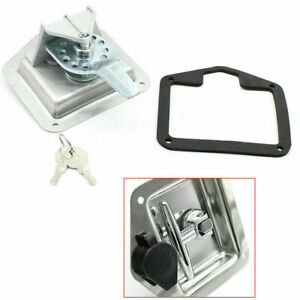 6pcs Toolbox Lock Stainless Door Key Latch Paddle Handle Rv Trailer T Handle Vv