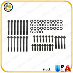 Aluminum Steel Head Bolts Heads With Washers For Sbc Small Block 350 383 400 Sbc