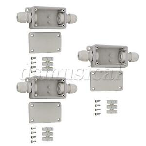 3pcs Ip65 Outdoor Case Cable Connector External Electrical Junction Box