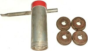 80s Buick Olds Cadillac wire Wheel Lock Wrench Key W Nuts Red